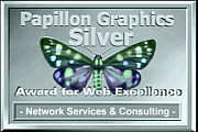 Papillon Graphics Silver Award for Web Excellence